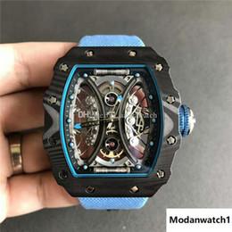 $enCountryForm.capitalKeyWord Australia - Top Luxury Watch 53-01 Watch Swiss Automatic Tourbillon suspension hollow out movement TPT Carbon Fiber Case Sapphire Crystal Leather strap