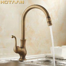 Kitchen Faucet Antiques Australia - Free shipping Kitchen Faucet Antique Brass Swivel Bathroom Basin Sink Mixer Tap Crane,torneira YT-6034