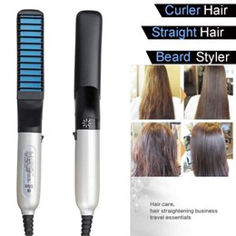 hair comb mix Australia - Electric Bear Straightener Irons Comb for Men Multifunctional Hair Beard Comb Electric Heating Hairbrush Hairstyle No Hurt Hair