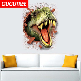 $enCountryForm.capitalKeyWord Australia - Decorate home 3D dinosaur cartoon art wall sticker decoration Decals mural painting Removable Decor Wallpaper G-823
