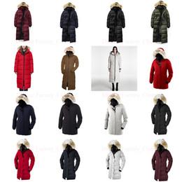 Satin blue color online shopping - Raccoon Fur Women Winter Puffer Designer Jacket Winter Coats Luxury Women s Goose Down Jackets Long Parka Coat Trench Warm Doudoune Femme