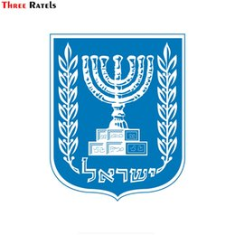 Armed windows online shopping - Three ratels FTC Israel national emblem coat of arms PVC waterproof window auto motorcycle car sticker decal