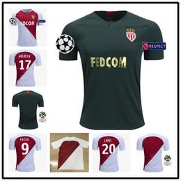 953d8f561 top 2018 2019 AS Monaco Jersey Men Ligue 1 Soccer 9 FALCAO 10 JOVETIC 17  GOLOVIN 24 RAGGI 1 SUBASIC 18 19 Football Shirt Kits Uniform