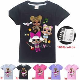 Vente en gros 110-150cm grandes filles manches courtes Tshirt filles de surprise imprimés enfants occasionnels tops enfants dessin animé mignon t-shirt