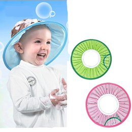 $enCountryForm.capitalKeyWord Australia - Lovely Bathing Shower Cap Adjustable Baby Hat Toddler Kids Shampoo Wash Hair Visor Caps For Baby Care