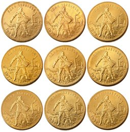 Russia Coin Australia - A Set Of(1923-1982) Soviet Russian 1 Chervonetz 10 Roubles CCCP USSR Lettered Edge Gold Plated Russia Coins COPY