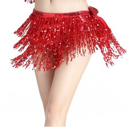 $enCountryForm.capitalKeyWord Australia - glitter sequin fringe Cinturones Para Mujer Belts For Women hot sale striking belly dance hip scarf sequins and shining
