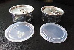 Опт Самый новый пластичный ясный контейнер для хранения качества еды может 100ml сухой любимчик травы легкое открытое кольцо тяга tab пустая жестяная коробка тунца рыб