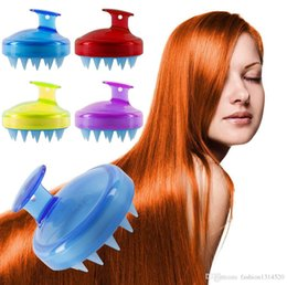 $enCountryForm.capitalKeyWord Australia - Slimming Massage Brush Silicone Head Body Shampoo Scalp Massage Brush Comb Hair Washing Comb Shower Bath Brush props