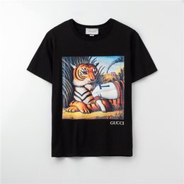 fashion for short girls NZ - 2020 Fashion Brand Designer T-Shirts For Girls Mens Tshirt Short Sleeves Shirts Womens Summer Tiger Print Tees Top Quality A1OP9 2031603V