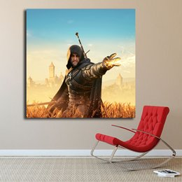 $enCountryForm.capitalKeyWord Australia - The Witcher 3 Wild Hunt Geralt Igni Poster Oil Painting on Canvas Bedroom Wall Art Decoration Pictures For Living Room Home Decor