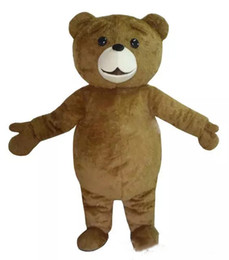 Wholesale ted movie online – design 2018 Hot sale Ted Costume Teddy Bear Mascot Costume Free Shpping