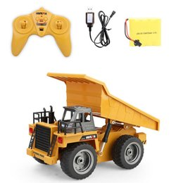 remote control cars children 2019 - 1:18 Remote Control 6CH Dumper Simulation Engineering Vehicles Kids Toy Car Toys for Children - Main Brown cheap remote