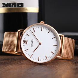 $enCountryForm.capitalKeyWord Australia - SKMEI Quartz Lover Watch Stainless Steel Wristwatch 3ATM Water-resistant Fashion Casual Watch Men Women Wrist