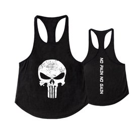 Undershirt Sleeveless NZ - 2018 Men Skull Tank Tops Men Vegeta Bodybuilding clothing Summer Fitness Men Vest Undershirt Stringer Tank Top sleeveless