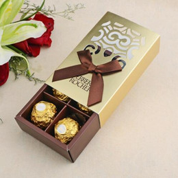 $enCountryForm.capitalKeyWord NZ - 100pcs FERRERO ROCHER Boxes Wedding Favors Sweet Gifts Bags Party Supplies Baby Shower Ferrero Chocolate Candy Box