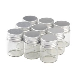 $enCountryForm.capitalKeyWord Australia - packing jewelry 15 25 40 50ml 60ml Glass Jewelry Packing Cute Bottles Aluminium Lid Empty Ornament Bottles Jars Containers 12pcs