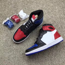 Picking Shoe Australia - 2018 Authentic 1 OG High Top 3 Pick Men Women Basketball Shoes Blue Red Sports Sneakers With Original Box 555088-026