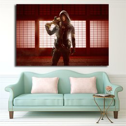Red Ink Painting Australia - Tom Clancys Rainbow Six Siege Red Crow Hibana Operator HD Art Canvas Poster Painting Wall Picture Print Home Bedroom Decoration