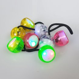plastic yoyo lights NZ - Factory direct sales LED finger yoyo ball night market hot selling melodious ball decompression light-emitting toys