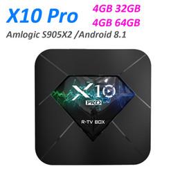 Smart Box Wifi NZ - R-TV X10 PRO Android 8.1 Smart TV BOX 4GB 32GB Amlogic S905X2 Quad Core 5G Dual WIFI BT4.0 4K Media Player