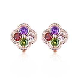 $enCountryForm.capitalKeyWord UK - Designer Women Luxury Earrings Green  white Stone Cubic Zircon Spike Party Stud Earrings with free shipping