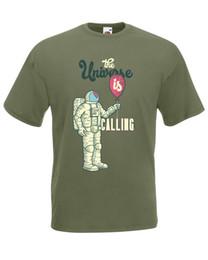 $enCountryForm.capitalKeyWord UK - Astronaut The Universe Is Calling Graphic Design Quality t-shirt tee mens unisex Men Women Unisex Fashion tshirt Free Shipping black