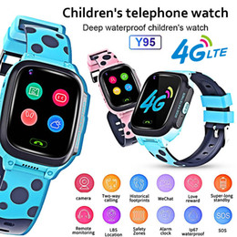 remote control vehicle video camera Australia - Y95 4G Child Smart Watch Phone GPS Kids Smart Watch Waterproof Wifi Antil-lost SIM Location Tracker Smartwatch HD Video Call