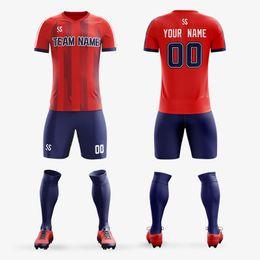 76e2c71c81b Custom Men Adult Boys Soccer Jerseys Sets Print Training Game Jerseys  Football Shirts Professional Design Customer Name Number Clothing