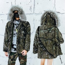 Camouflage Cotton Jacket NZ - Winter New Men's Cotton Clothing Fashion Camouflage Thick Warm Cotton Jacket Large Size Warm Camouflage Jacket US Size S-XXL