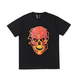 1b37ddedce3 Vlone Friends Skull T-shirt men women t shirt harajuku tshirt punk hip hop  streetwear brand summer cotton designer clothes tees tops