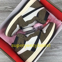 Wholesale Top quality travis scotts x High OG basketball shoes men new Cactus s high low mens designer shoes sneakers US