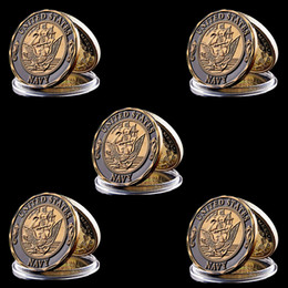 military challenge coins Canada - 5pcs Navy Marines Challenge Coin Shellback Crossing The Line Navy Marine Corps Military 1oz Copper Coin