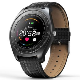 $enCountryForm.capitalKeyWord Australia - V10 Smart Watches With Camera Bluetooth Smartwatch Pedometer Heart Rate Monitor Wristband Watch Supports TF SIM Card Watch For Android Phone
