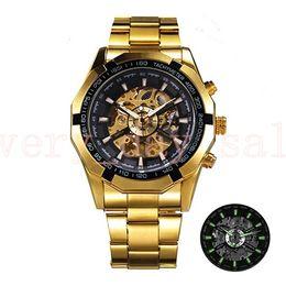 $enCountryForm.capitalKeyWord NZ - Winner Watch Men 45mm Skeleton Automatic Mechanical Watch Gold Skeleton Vintage Man Watches Mens FORSINING Watch Top Brand Luxury