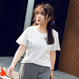 plus size gold tops women Canada - Korean T Shirt Women Short Sleeve Plus Size Summer Shirts White Oversized Tshirt Blusas Femininas de Verao 2020 XXXXL 5XL Tops