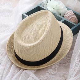 S3477 fashion 2018 summer beach straw sun fedora straw hats for holiday  Unisex Straw Short Brim Fedora Jazz Hat with Black Band 44155943187e
