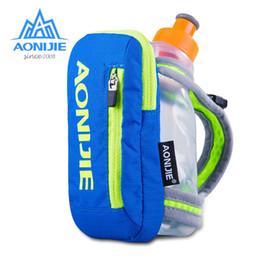 Hand Bag Bottle Water Australia - AONIJIE E907 Running Hand-free Hand-held Water Bottle Holder Wrist Storage Bag Hydration Pack Hydra Fuel Flask Marathon Race #324799