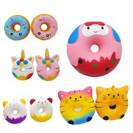 Panda gifts online shopping - Squishy cm Kawaii Gift Soft Panda Unicorn Doughnut Jumbo Squishy toy CuteStraps Slow Rising Squishies Donut toy MMA2308