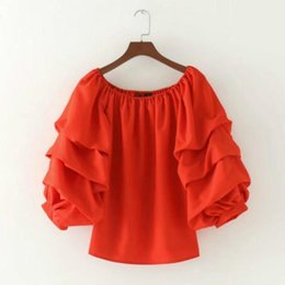 Summer Women Blending Sleeveless Ruched Puff Sleeve Boat Neck Pullover Shirt  Ladies Casual Urban Sling Blouses a73e6733e0ce