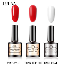 Best uv top coat online shopping - LULAA UV LED Gel Nail Polish Base Coat Best Nail Polish Gel Soak Off Don t Wipe Top Color Matte seal top coat SET