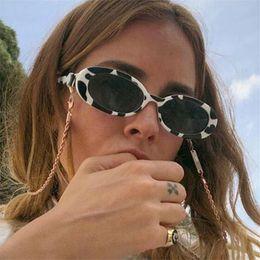 Couples sunglasses online shopping - AOXUE Retro Small Oval Sunglasses for Women Cow Color Stripe Frame Vintage Shade Hip Hop Trendy Brand Designer Couple Glasses UV
