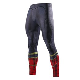 9f4d02e408e10 Men Skinny Compression Pants Superman Spiderman Iron Man Batman Leggings  Sweatpants 3D Fitness Bodybuilding Elastic Trousers  387429
