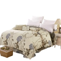 Chinese  Comfort 100% Cotton Free shipping Plant Plain lattice Quilt cover Duvet cover 160 180 200 220cm Twin Full Queen King Size manufacturers