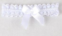 Envío gratis 2019 nuevo llega la venta caliente encaje blanco ligas del bowknot flores pierna anillo boda nupcial ligas shuoshuo6588 en venta