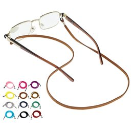 Wholesale Colorful Cotton Neck Strap String Rope Eyeglass Cord Sunglasses Eyewear Lanyard Holder With Silicone Loop colors