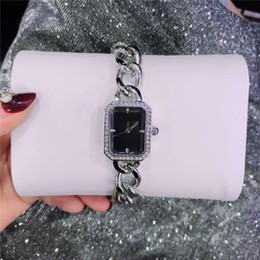 Famous Designer Square Dial Face Woman watch clock Luxury Special Band stainless steel Lady wristwatch Nice Fashion Dress watch wholesale on Sale