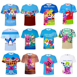 $enCountryForm.capitalKeyWord Australia - 3D Baby Shark T-shirts For Kids Adults Men Women 26 styles Baby Shark T shirt Kids Cartoon Baby Shark Summer Clothing Kids Gift XXS-4XL A419