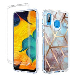 Heavy duty cases online shopping - For Samsung A30 Case Luxury Marble in1 Heavy Duty Shockproof Full Body Protection Cover For Samsung Galaxy A20 A50