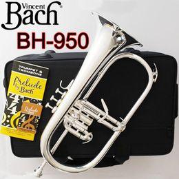 Vincent Bach Stradivarius professionale Flicorno BH-950 argento placcato con il caso Professione Flicorni Bb Yellow Brass Bell in Offerta